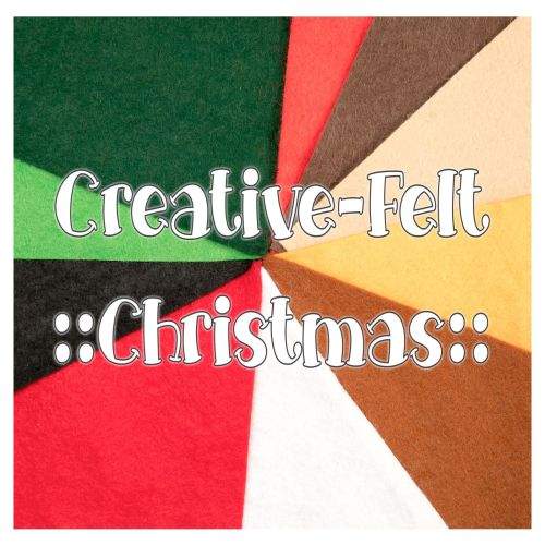 Wool Blend Felt Colour Collection Sheet Bundle - Christmas