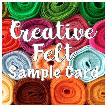 Creative Felt Wool Blend Felt Sample Card