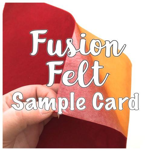Fusion Self Adhesive Felt Sample Card