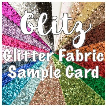 Glitz Chunky Glitter Fabric Sample Card
