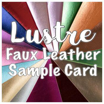Metallic Faux Leather Sample Card