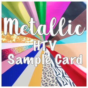 HTV Metallic Sample Card