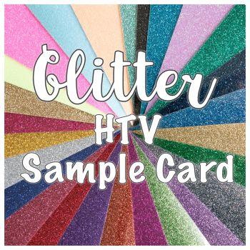 Glitter HTV Sample Card