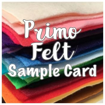 Primo Polyester Felt Sample Card