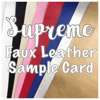 Supreme Plain Faux Leather Sample Card