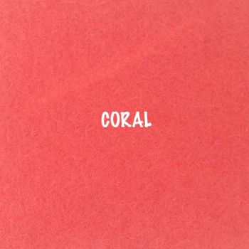Fusion Self Adhesive Felt - Coral