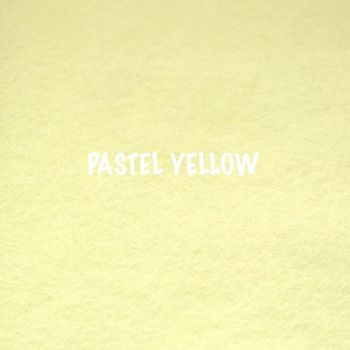Fusion Self Adhesive Felt - Pastel Yellow