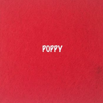 Fusion Self Adhesive Felt - Poppy