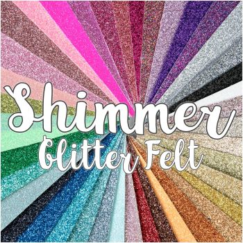 Shimmer Fine Glitter Felt