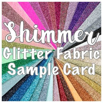 Shimmer Glitter Fabric Sample Card