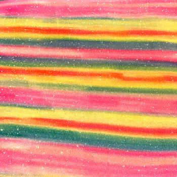 Shimmer Fine Glitter Fabric - Bright Rainbow