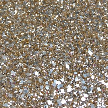 Exclusive Chunky Glitter Fabric A4 Sheet - SilverGold