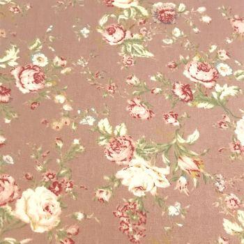 Fabric Felt - Vintage Floral - Taupe