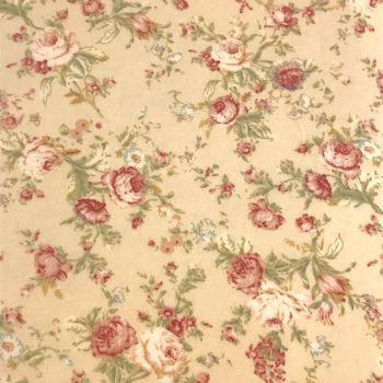 Fabric Felt - Vintage Floral - Cream