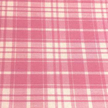 Tartan Fabric Felt - Pink