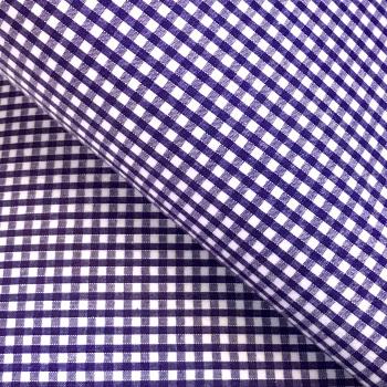 Gingham Fabric Felt - Purple