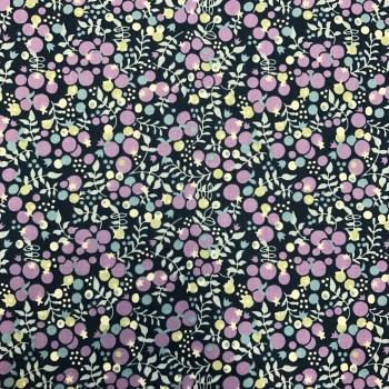 Fabric Felt - Purple Berries