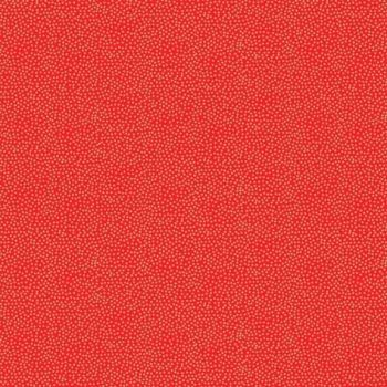 Fabric - Makower - Metallic Dotty - Red