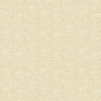 Fabric - Makower - Metallic Dotty - Cream