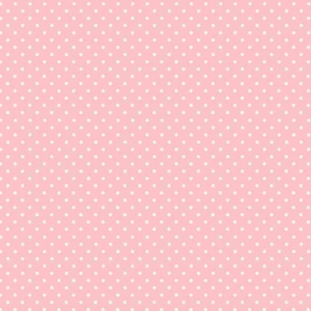 Fabric - Makower - Polka Dot - Baby Pink