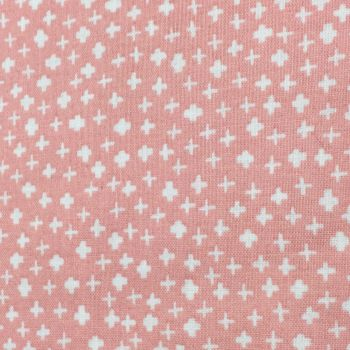 Fabric - Makower - Mini Crosses - Light Pink