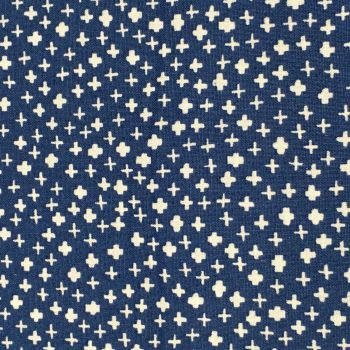 Fabric - Makower - Mini Crosses - Navy
