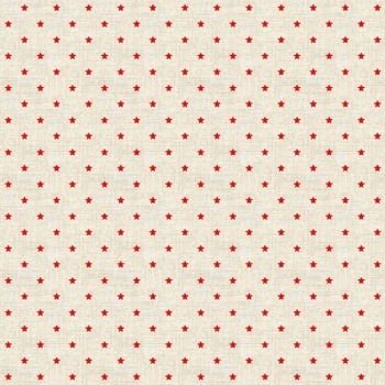 Fabric - Makower - Mini Stars - Red
