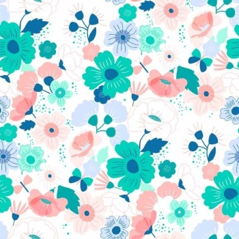 Fabric - Makower - Floral Splendor - Peach