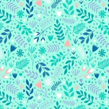 Fabric - Makower - Floral Splendor - Mint