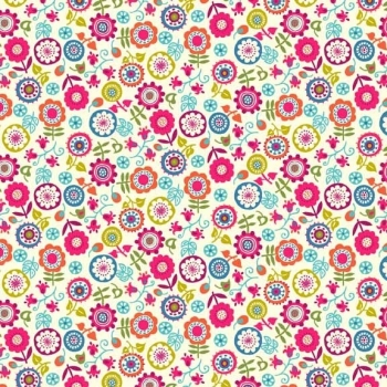 Fabric - Makower - Papillon - Floral