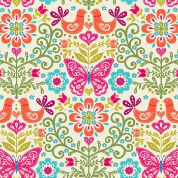 Fabric - Makower - Papillon - Butterfly (Bright)