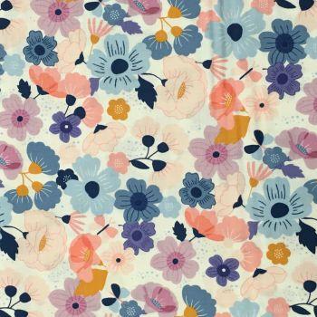 Double Sided Glitter Fabric - Floral Splendor