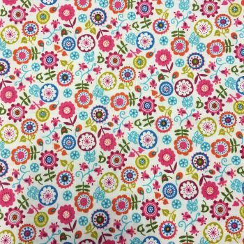 Double Sided Glitter Fabric - Papillon Floral
