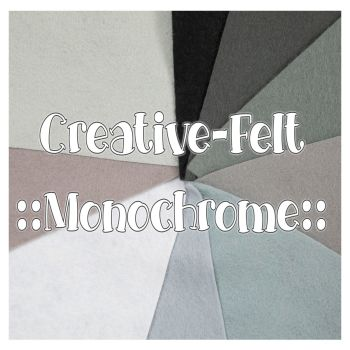 Creative Felt Colour Collection - Monochrome