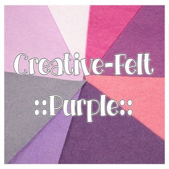 Creative Felt Colour Collection - Purple