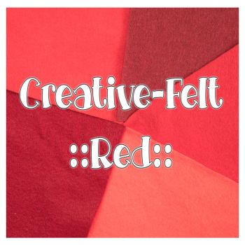 Creative Felt Colour Collection - Red