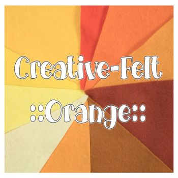 Creative Felt Colour Collection - Orange