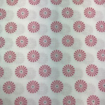 Fabric - Gutermann - Pinwheel Flowers - Light Pink