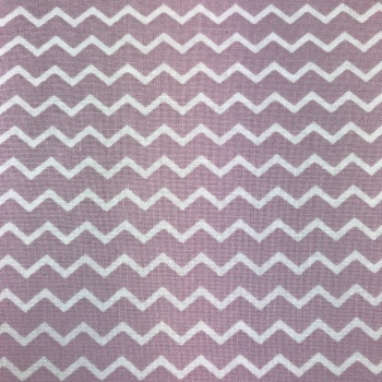 Fabric - Gutermann - Chevron - Lilac/White