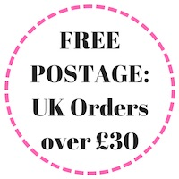 free postage on orders over £30 image