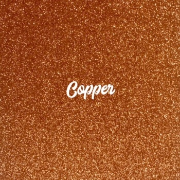 Exclusive Fine Glitter Fabric - Copper