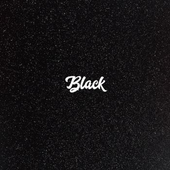Exclusive Fine Glitter Fabric - Black