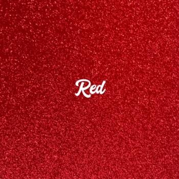 Exclusive Fine Glitter Fabric - Red