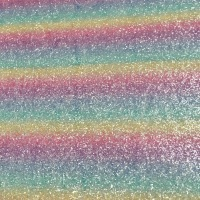 Exclusive Chunky Glitter Fabric - Pastel Rainbow