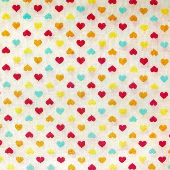 Double Sided Fabric Felt - Yellow Hearts