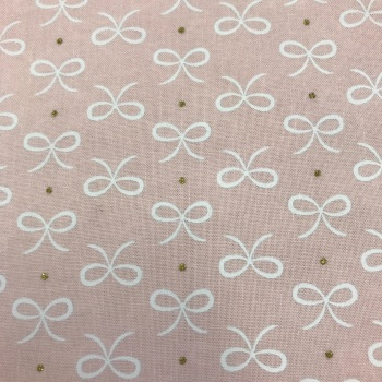 Double Sided Fabric Felt - Bitty Bows - Pink