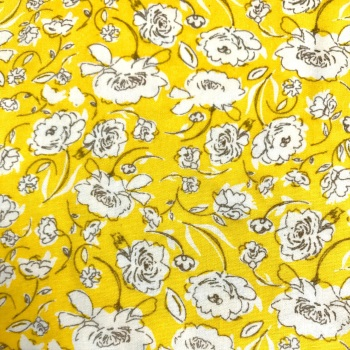 Double Sided Fabric Felt - Flowers - Sol Yellow