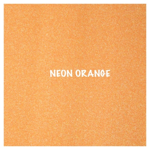 Shimmer Fine Glitter Fabric - Neon Orange