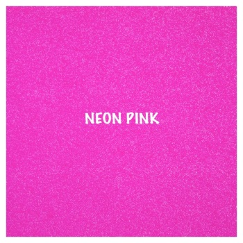 Shimmer Fine Glitter Fabric - Neon Pink