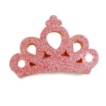 Mini Glitter Crown - Pink